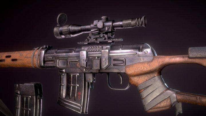 Sniper rifle Dragunov 3D Model