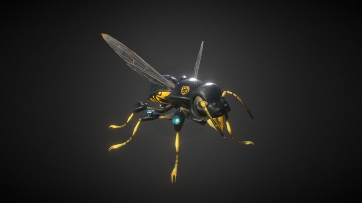 (old) TECH-Wasp (Hive Wars video game character) 3D Model