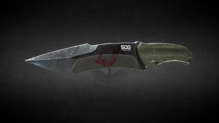 SOG Kiku Fixed Blade Knife 3D Model