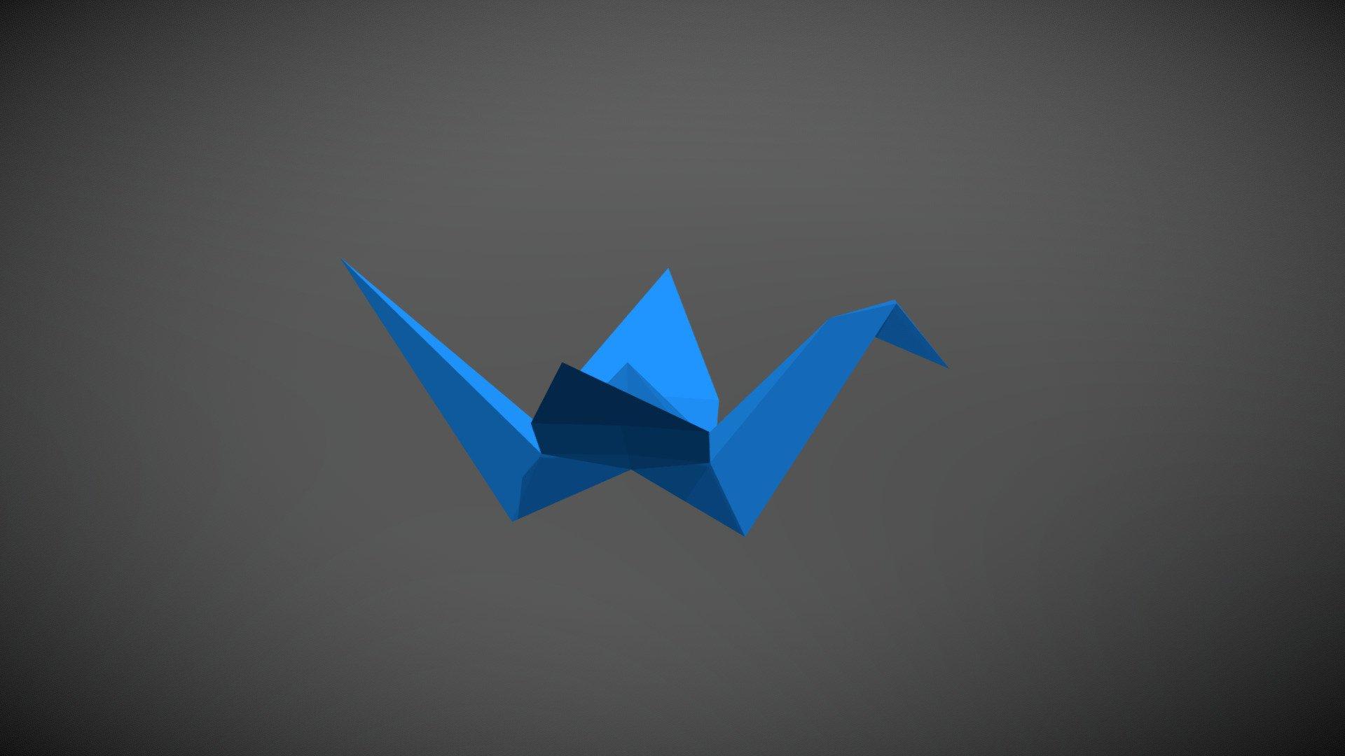 Origami Crane   Download Free 20D model by RunemarkStudio ...