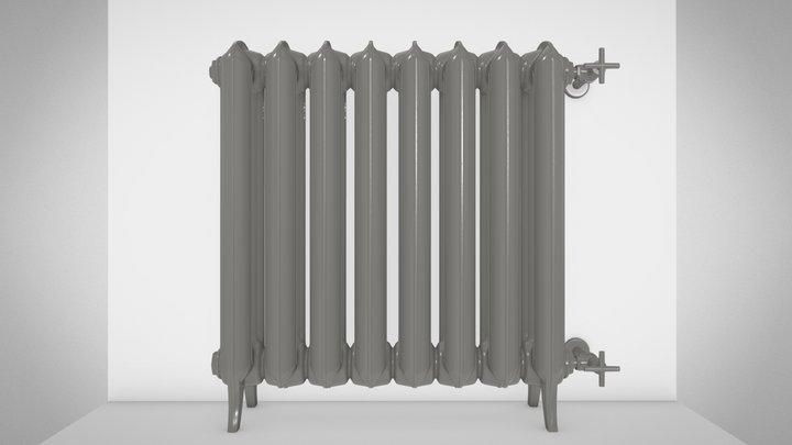 PLAIN 3K cast-iron radiator 3D Model