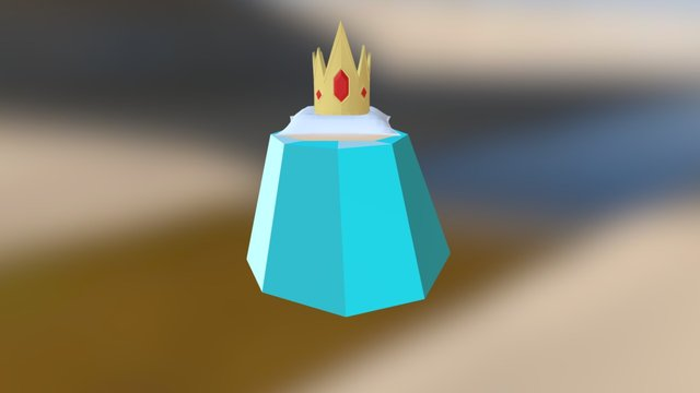 Ice King Crown 3D Model