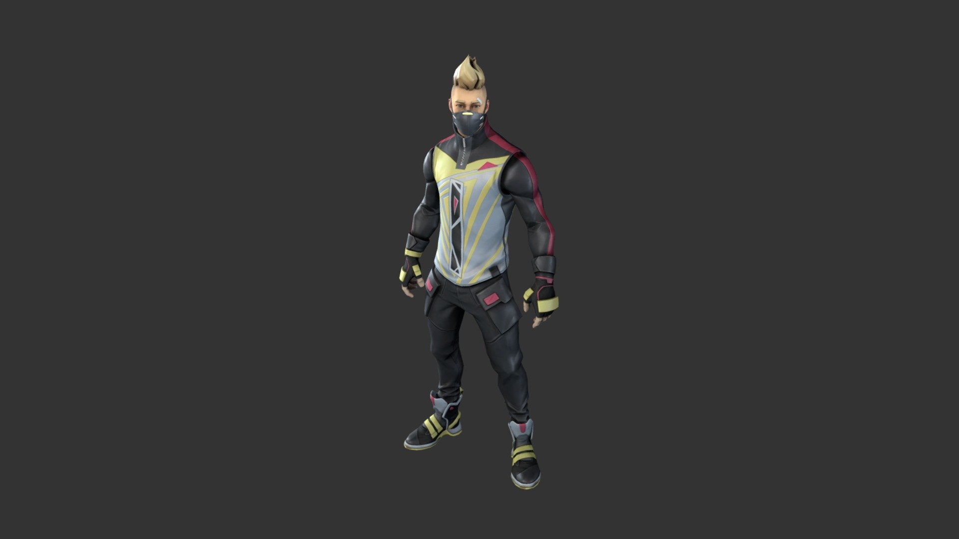 Drift Outfit Stage 2 3d Model By Fortnite Skins