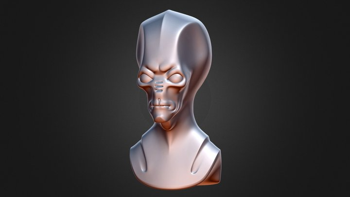 Alien Reptile 3D Model