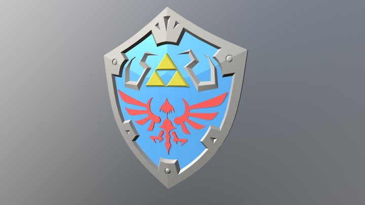 Hylian Shield - Zelda Breath of the Wild 3D Model