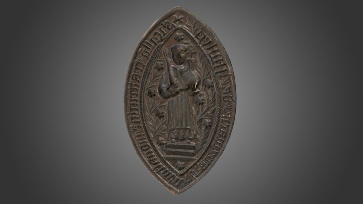 Seal showing the Holy Blood, early 16th century 3D Model
