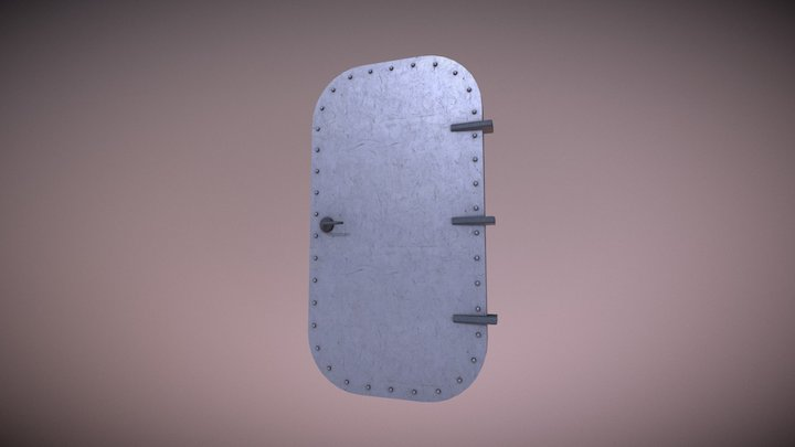 Heavy Metal Door 3D Model