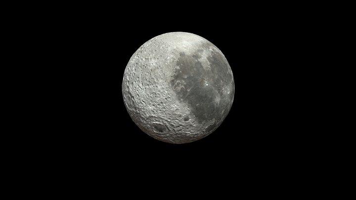 Moon-Obj 3D Model