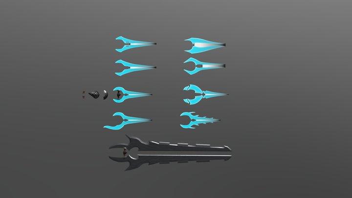 Custom Halo Energy Sword Variants 3D Model