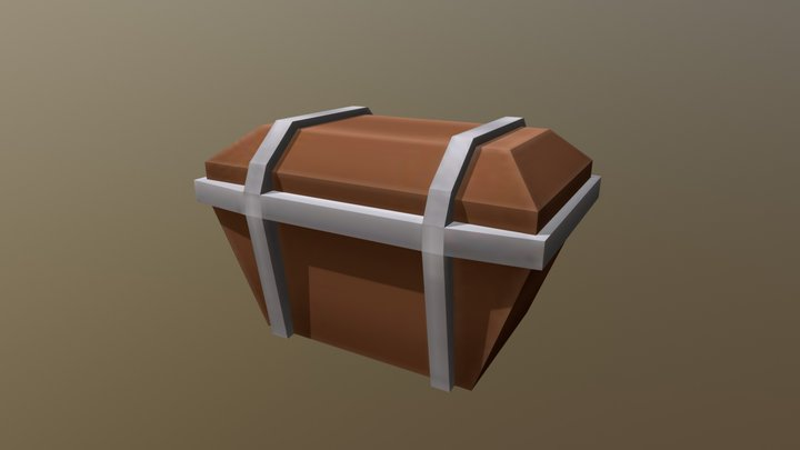 MDS Low Poly Props - Chest 3D Model