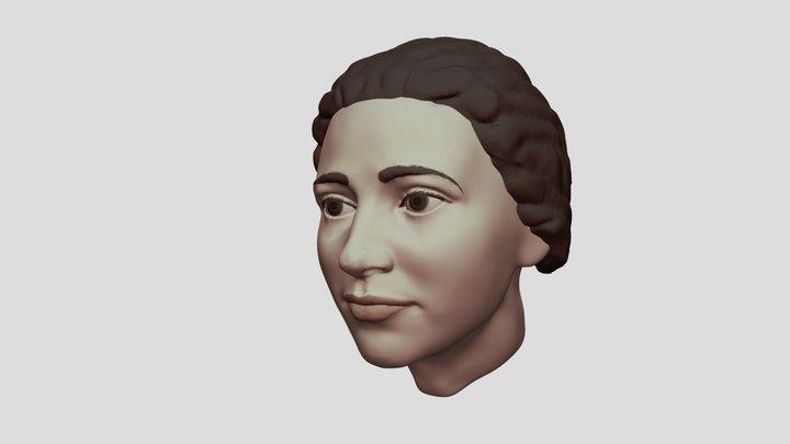 Female head sculpt 3D Model