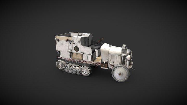 Autochenille Citroën, Le Croissant d'argent 3D Model