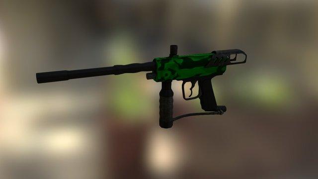 Paintball Gun Model 3D Model