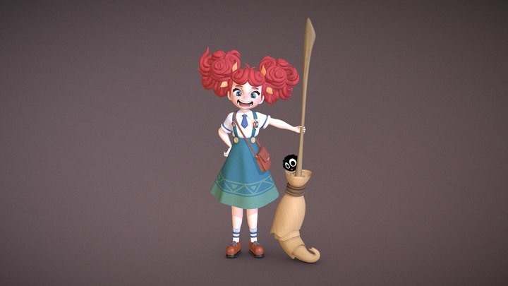 A Witch Named Marie 3D Model