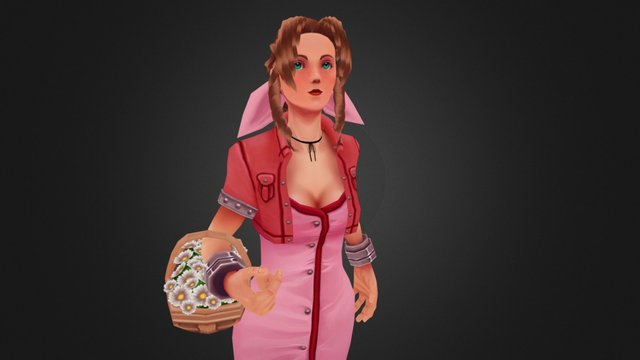 Aeris - Flower Girl 3D Model