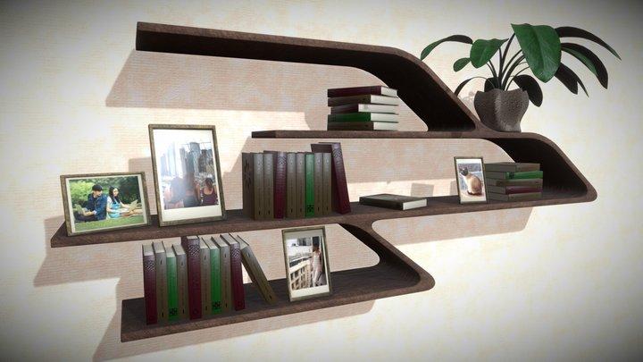 Modern smooth shelf 3D Model
