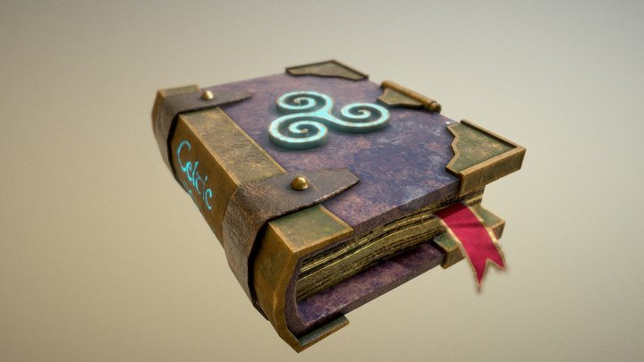 OBJECTS AND PROPS: CELTIC MAGIC BOOK 3D Model