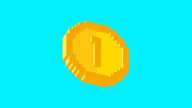 Daily Voxel #5 | Coin 3D Model