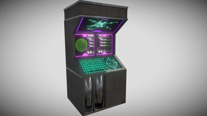 Cyberpunk WallComputer 3D Model