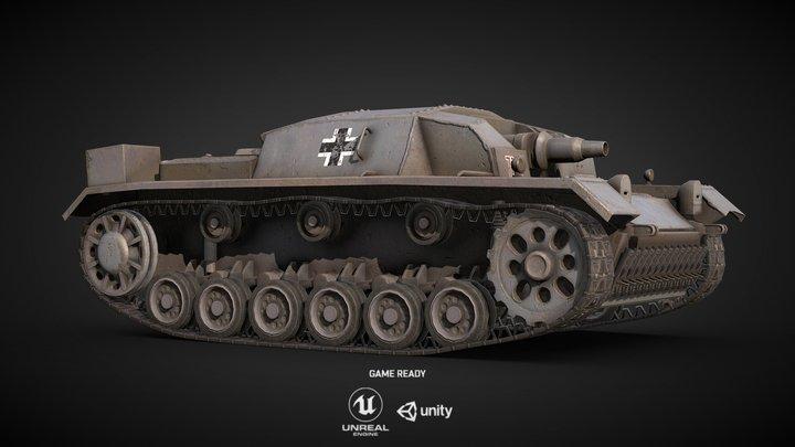 Sturmgeschütz.III Ausf.A - Game Ready 3D Model