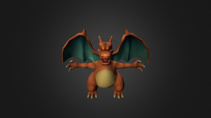 Fit Poke Lizardon00out 3D Model