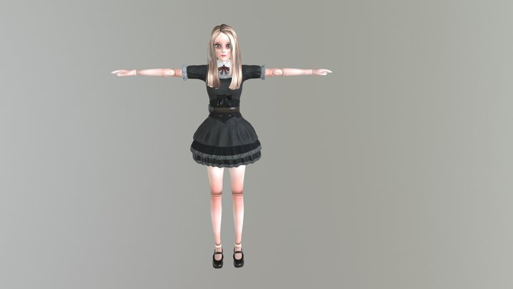 Doll Gril 3D Model