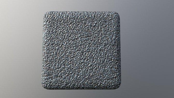 Tiled PBR material - Gravel road 3D Model