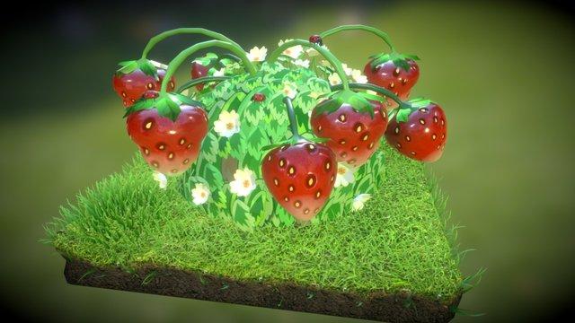 Strawberry Bush 3D Model