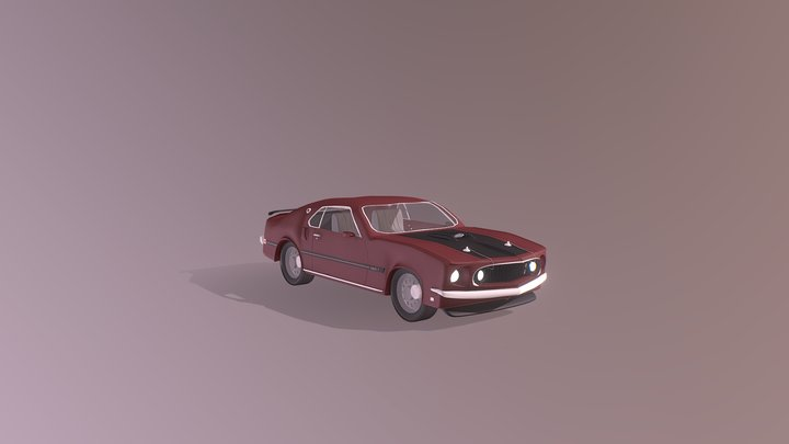 Ford Mustang Mach 1 (free model) 3D Model