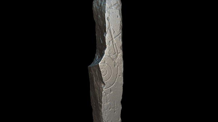 The Mirasiviene 'warrior' stela, Seville, Spain 3D Model