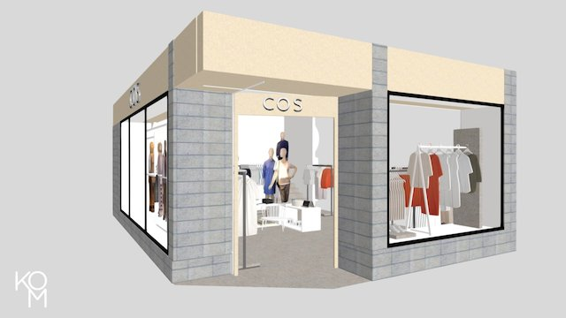 Cos - Biblioteksgatan Stockholm 3D Model
