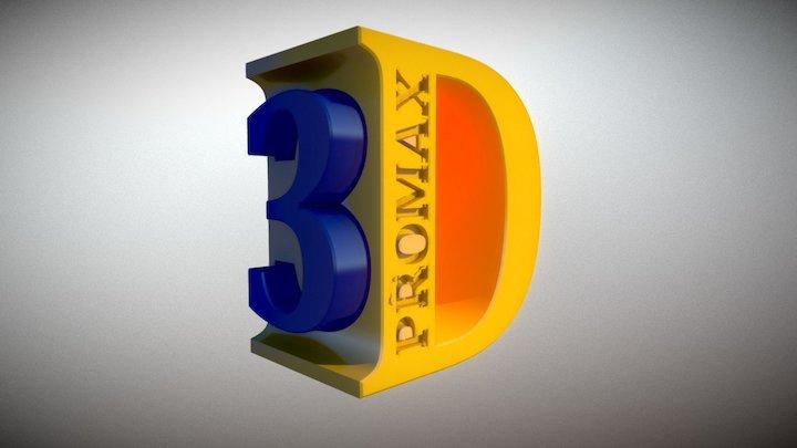 3D Promax Logo 3D Model