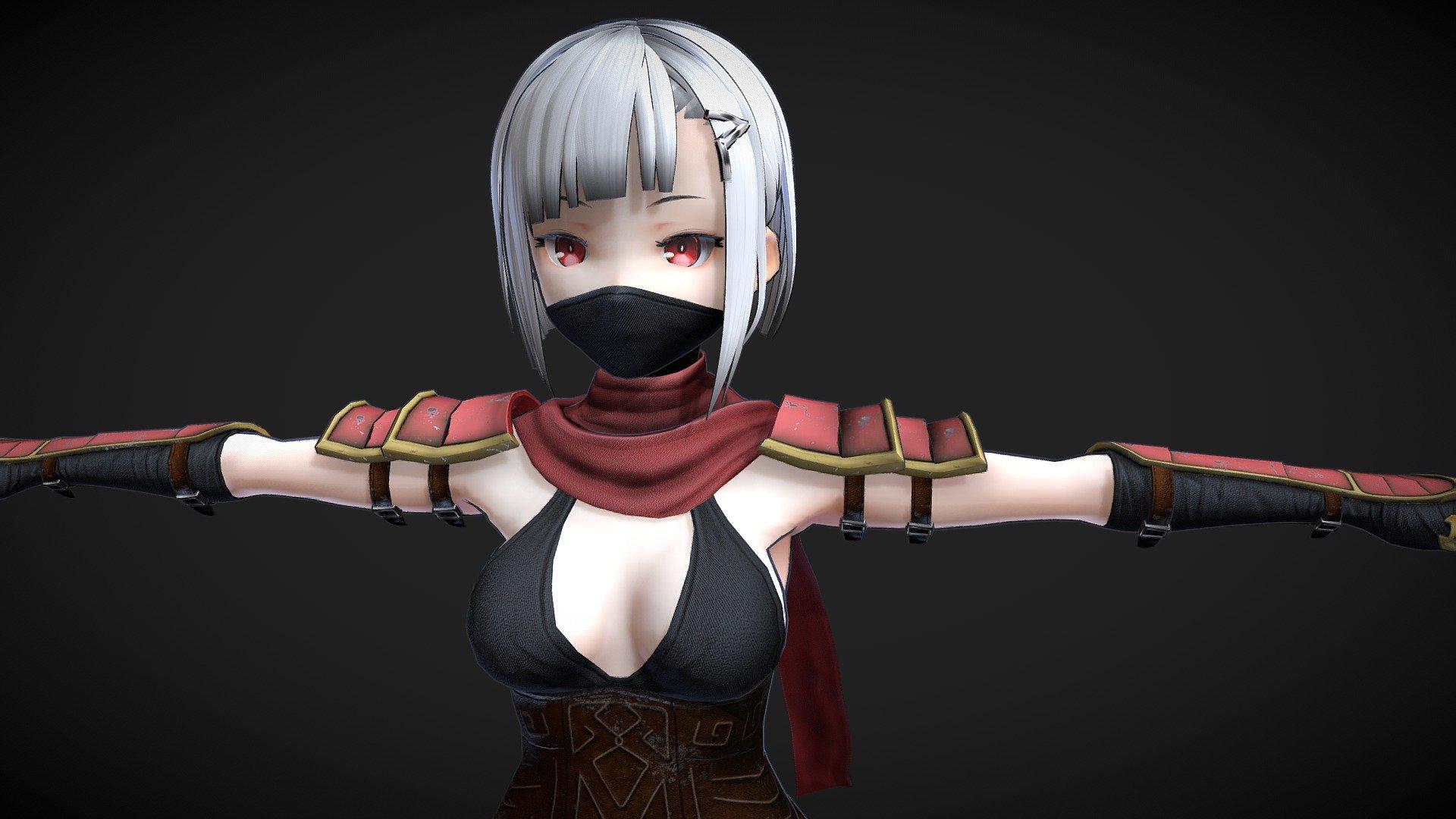 Anime Ninja Girl - Buy Royalty Free 3D model by Bruno Sidarta  (@brunosidarta) [f174601]