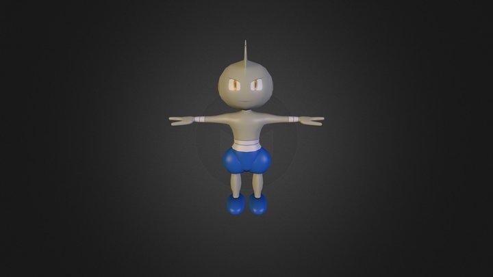 Tyrogue Shiny 3D Model