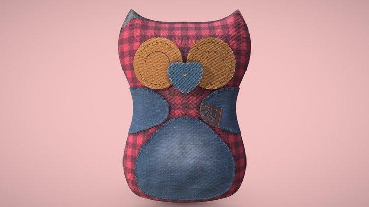 Owl soft toy 3D Model