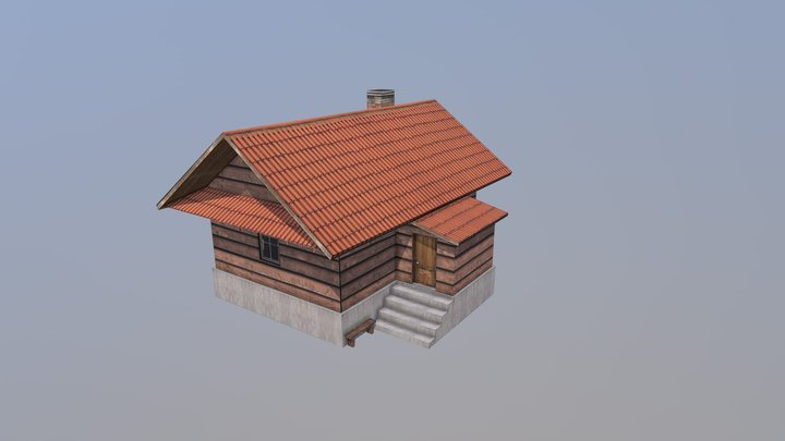 Small House Low Polly 3D Model