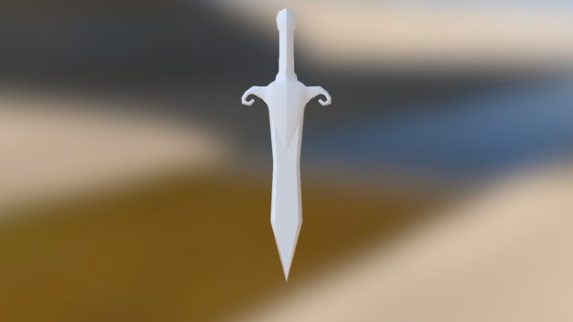 Game Sword 3D Model