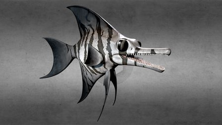 Ophthalmosaurus Monolith 3D Model