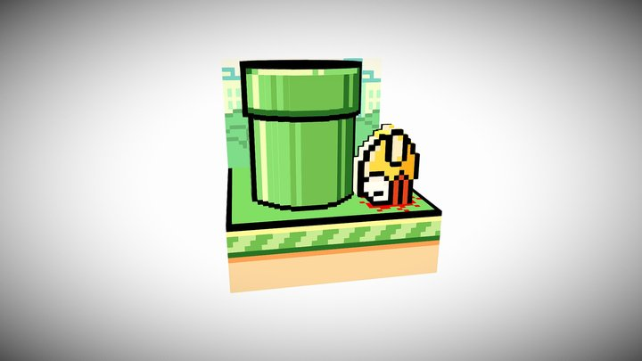 Flappy Bird 3D Model