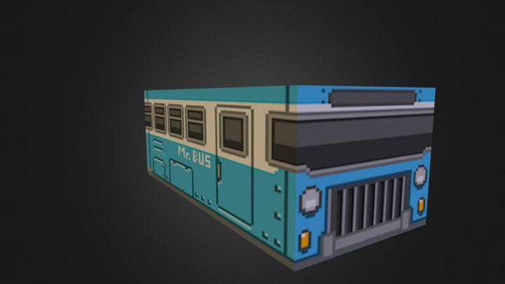 Mr.Bus 3D Model