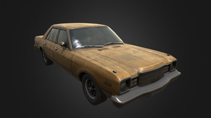 1977 Plymouth Volaire Sedan 3D Model