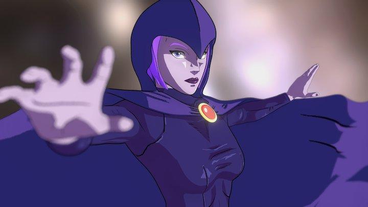 Raven   Teen Titans 3D Model