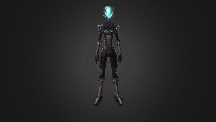 Armored Kalim + Anims 3D Model