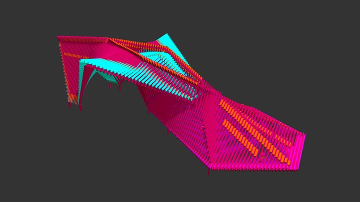 MAQUOKETA BY-WAYS ART PROJECT COLORIZED 3D Model