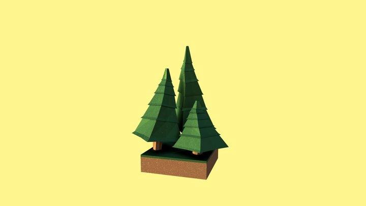 Miniature forest scene 3D Model