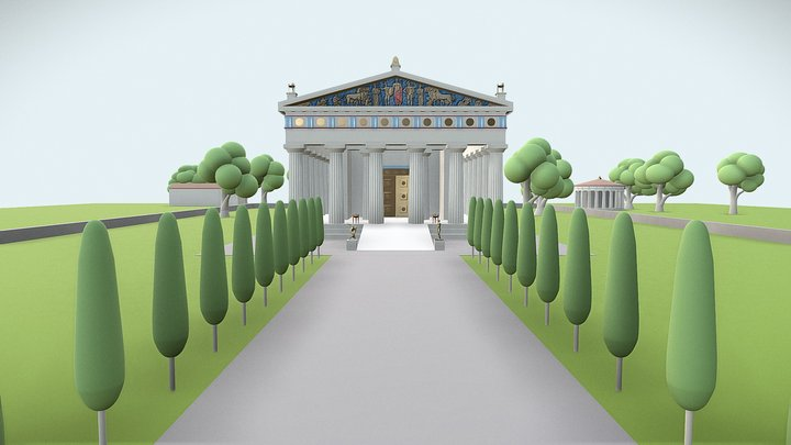 Temple of Zeus at Olympia (Reconstruction) 3D Model