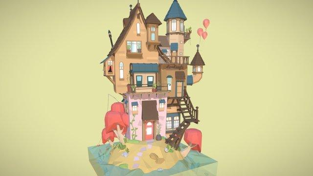 Island Home 3D Model