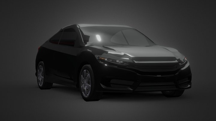 Sports Coupe Lite 3D Model