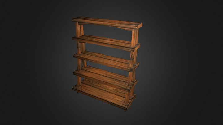 Scaffale 3D Model