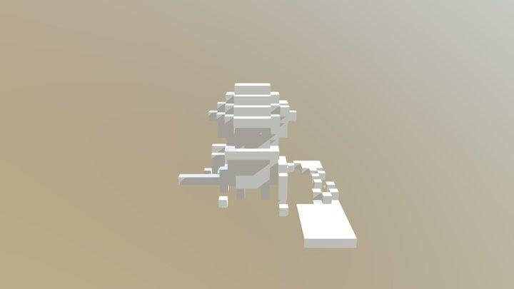 Zombie Sword Final Export Voxel 3D Model
